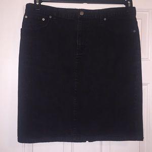 Ralph Lauren black denim skirt